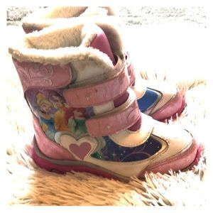 Disney princess light up snow boot